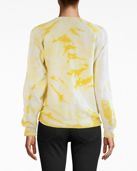 Nicole Miller Stronger Together Yellow Embroidered Sweatshirt