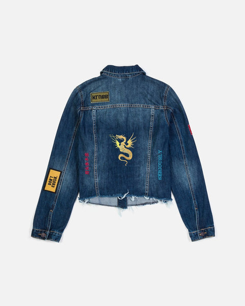 Nicole Miller Embroidered Denim Jacket
