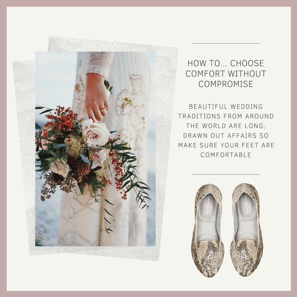 Foldable Shoes for Brides, Bridesmaids, Mother of the Bride and Groom and Wedding Guests