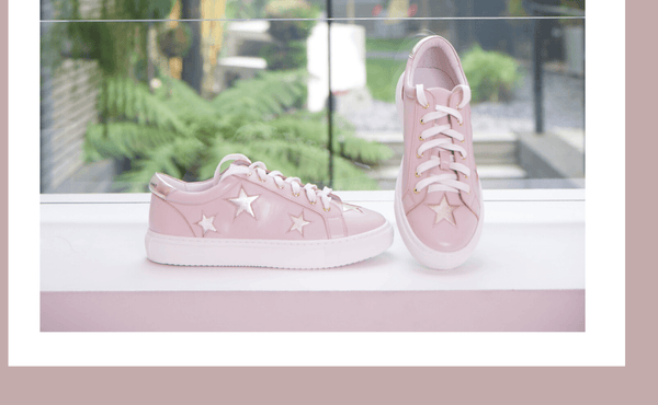 New In | Cocorose London Hoxton Pink and Gold Trainers