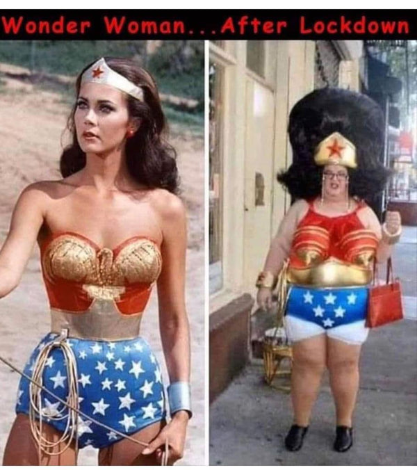 Wonder Woman Pre and Post Coronavirus Lockdown