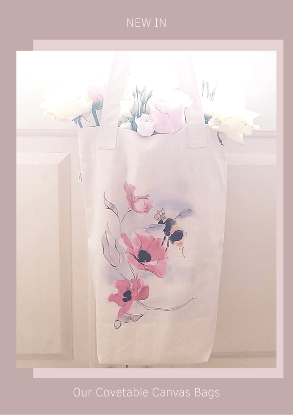 Cocorose Canvas Bags - Beautifully made, quality canvas shopping bags hand drawn and illustrated - inspired by the British countryside