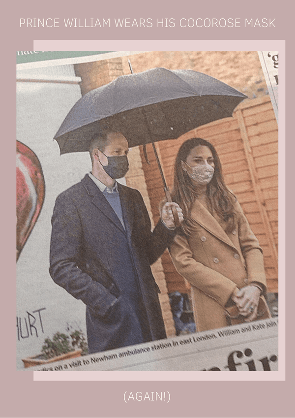 Prince William Wears His Cocorose Face Mask Again and Again