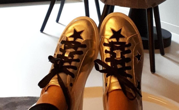 In Your Shoes by Cocorose London | Hoxton Gold Star Trainers