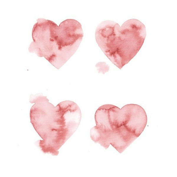 Watercolour heart illustrations for Cocorose London by Victoria Fitton