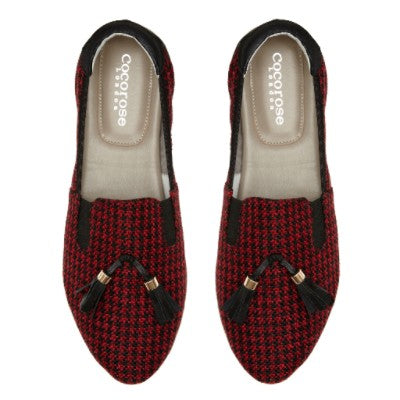 Shoreditch Black & Red Houndstooth