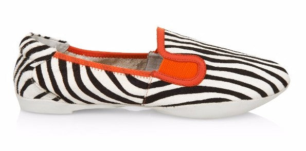 Cocorose London Shoreditch Zebra & Orange Foldable Loafers