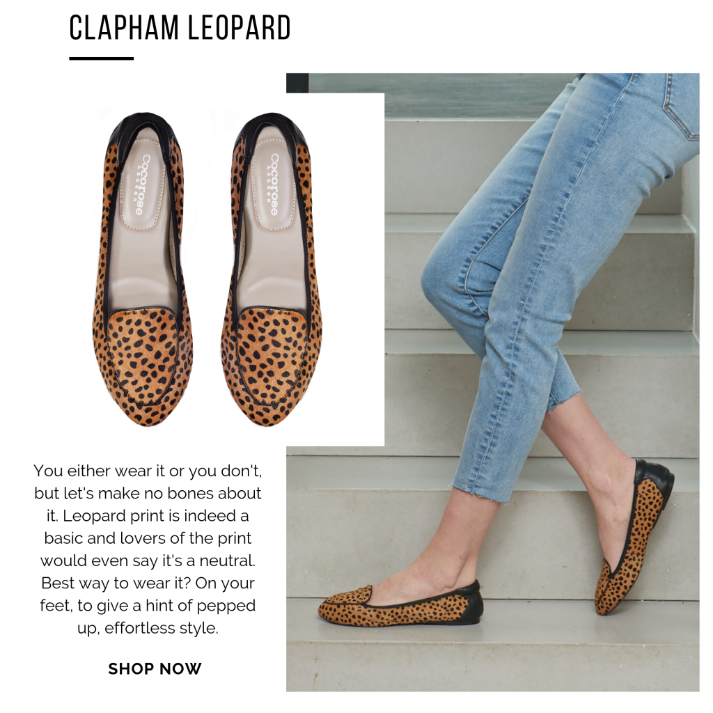 Cocorose London's Clapham foldable leather loafers - leopard print hairy leather flats