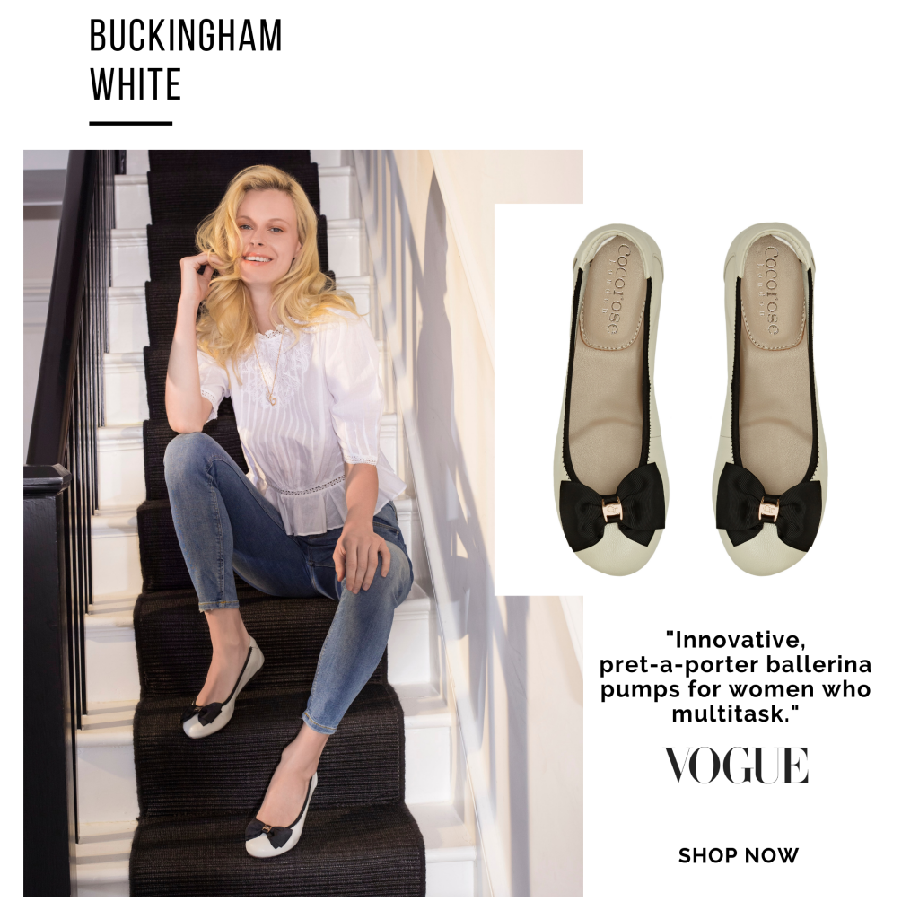 Cocorose London's Buckingham leather ballet flats are foldable and so comfy