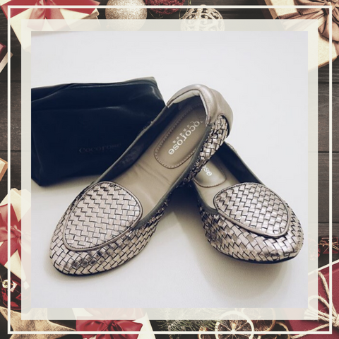 Cocorose London Fold Up Leather Flats - Gifts Under £150