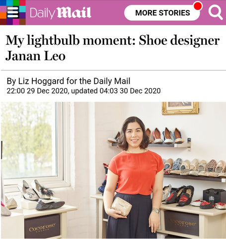 Janan Leo, Founder of Cocorose London, in The Daily Mail My Lightbulb Moment