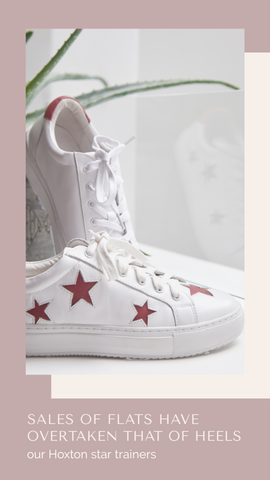 Hoxton Trainers | Comfortable and Stylish Designer Trainers | White Trainers with Stars