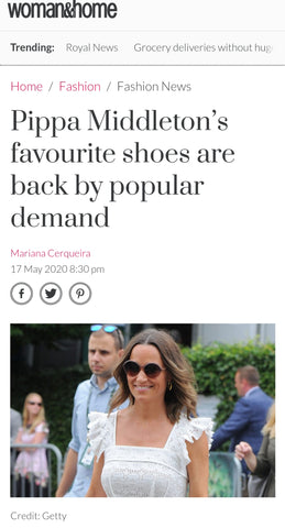 Cocorose London in Woman & Home Magazine | Pippa Middleton's Favourite Ballet Pumps