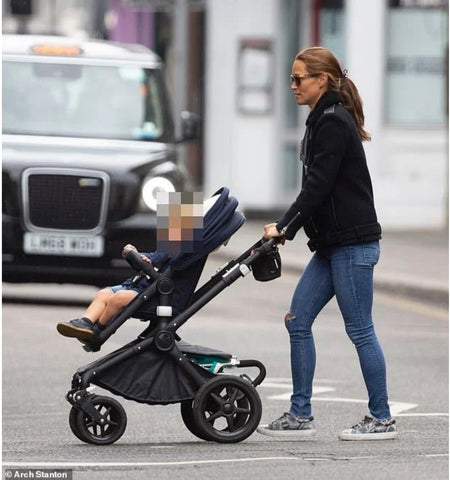Pippa Middleton Matthews wears her Cocorose Hoxton Grey Snakeprint Trainers | Pippa Sneakers