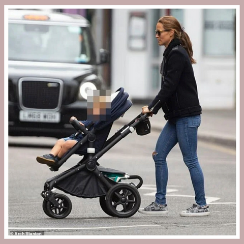 Pippa Middleton Matthews wears her Cocorose Hoxton Grey Snakeprint Trainers
