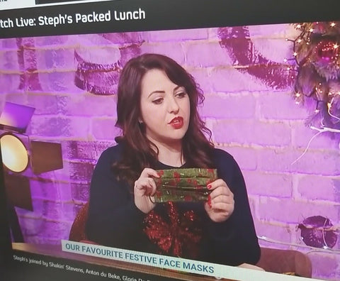 Our favourite festive face masks | channel 4 tv Steph's Packed Lunch