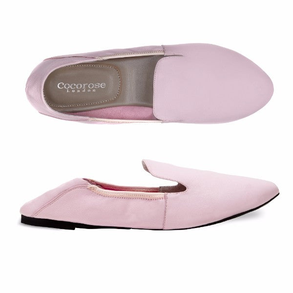 Cocorose London Wimbledon Pastel Pink Loafers