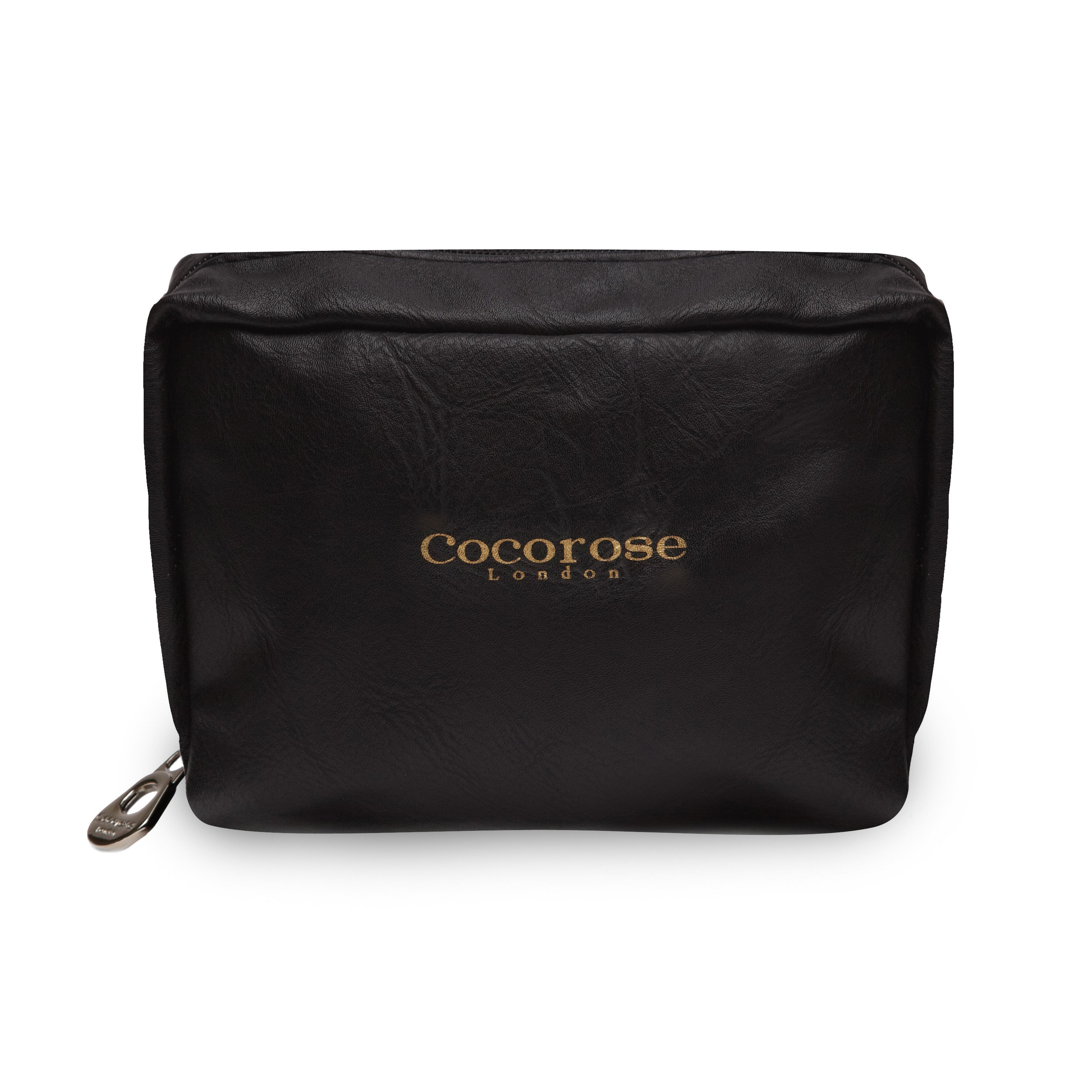 Cocorose London's Vegan Greenwich Style - Travel Purse for Black Foldable Shoes