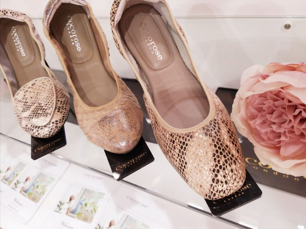 Cocorose London's Champagne Gold Foldable Leather Ballet Flats