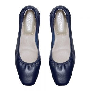 Cocorose London's Barnes navy leather ballet flats are perfect for the nautical trend and to wear for the Henley Royal Regatta