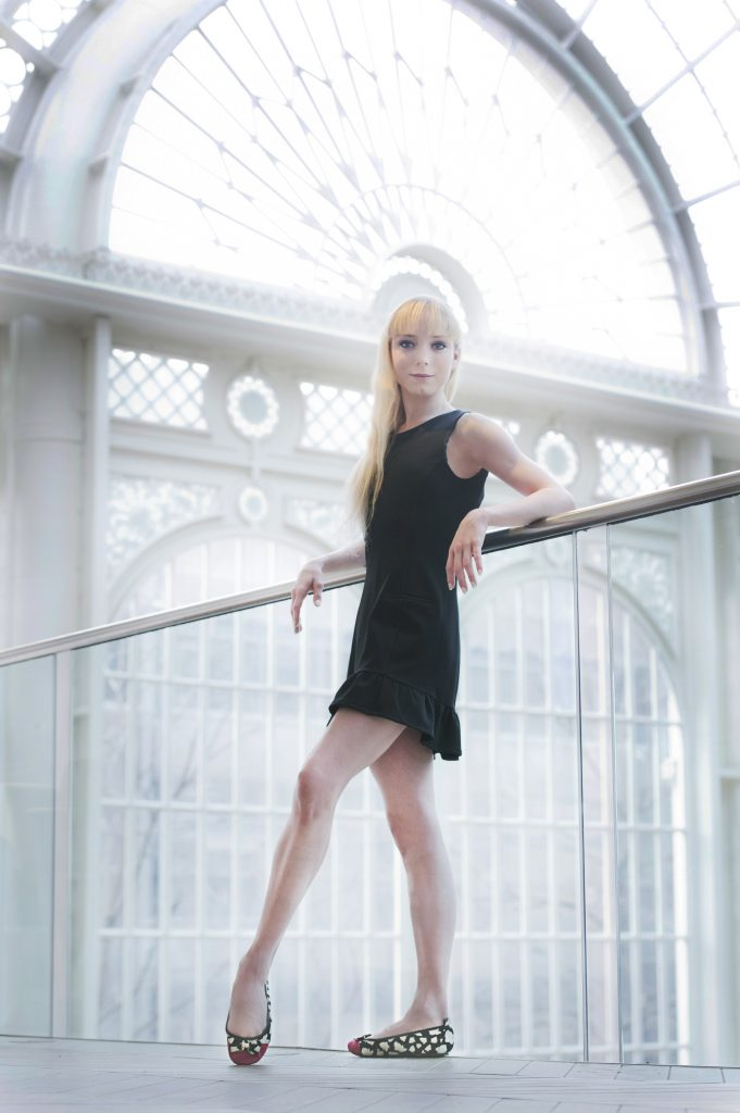 Sarah Lamb, principal dancer with The Royal Ballet, wears Cocorose Shoes Alice