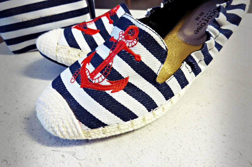 Cocorose London's Carnaby Nautical Foldable Espadrilles