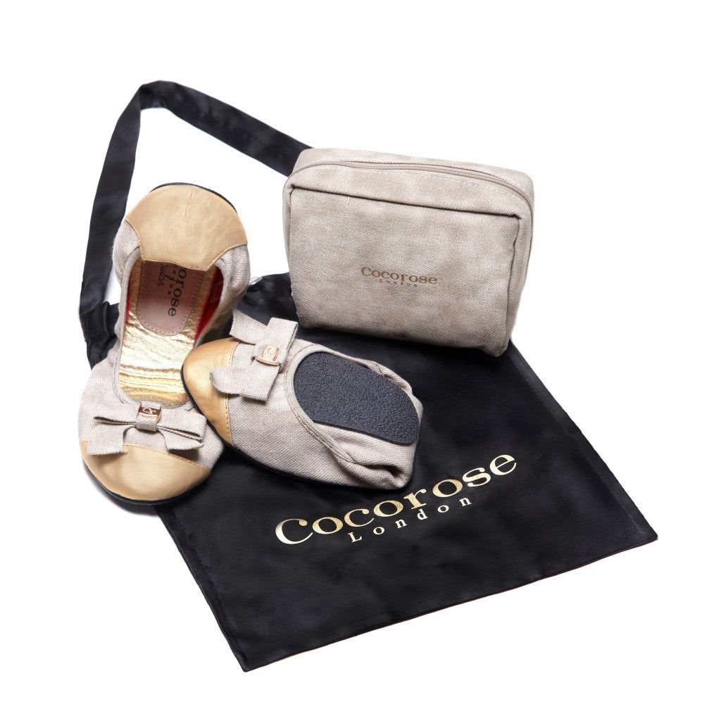 One of Cocorose London's Exclusive BAFTA Foldable Shoe Designs