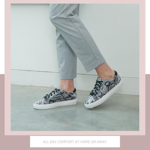 Grey Snake Print Trainers | Pippa Middleton's Trainers