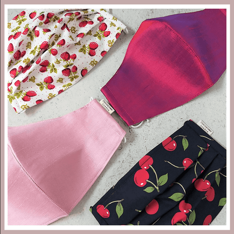 Cotton and Silk Face Masks - Perfect for Valentine's Day Gifts