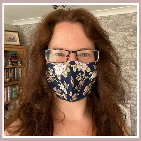 Helen wears her Cocorose Face Mask