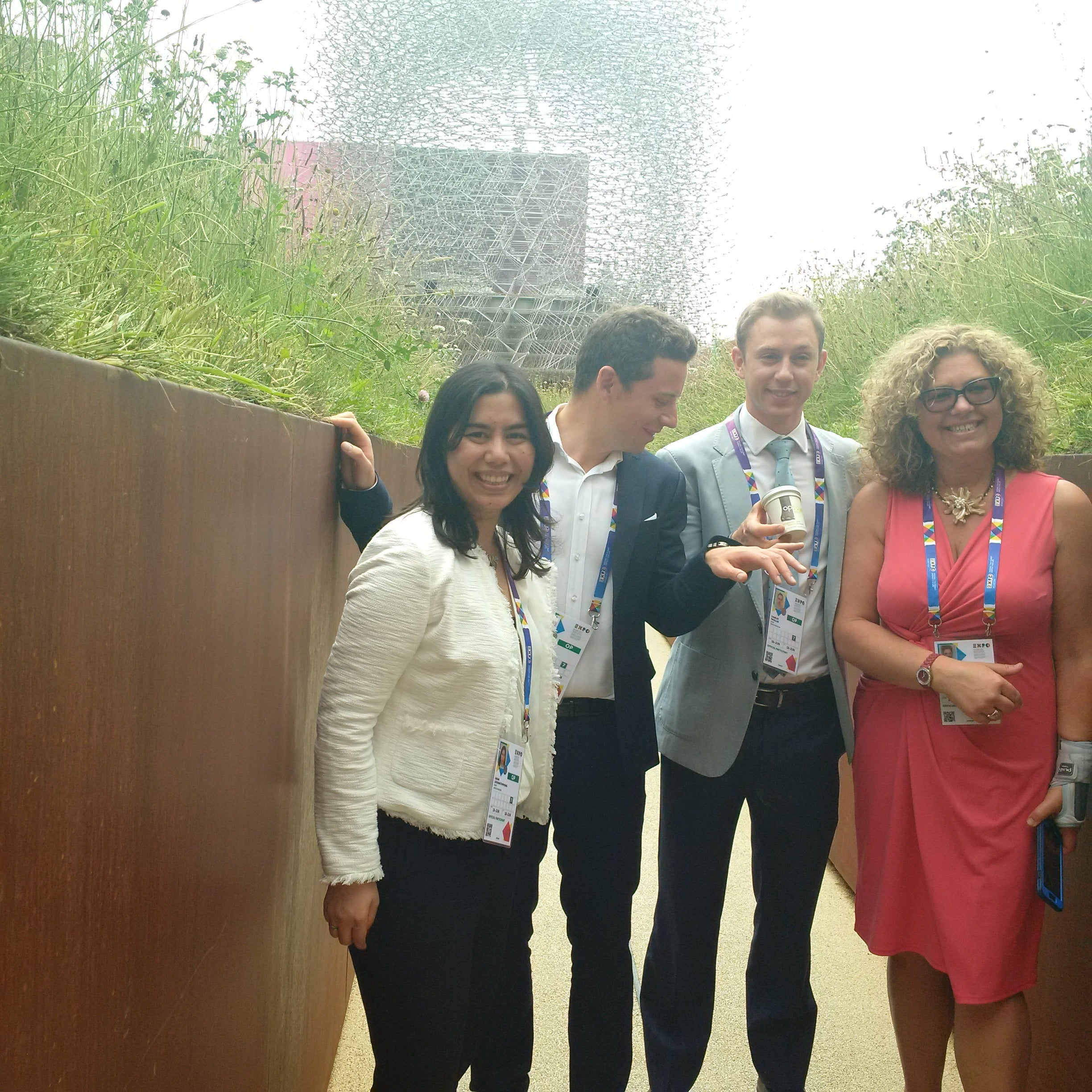 The Four Entrepreneurs at the Milan Expo 2015