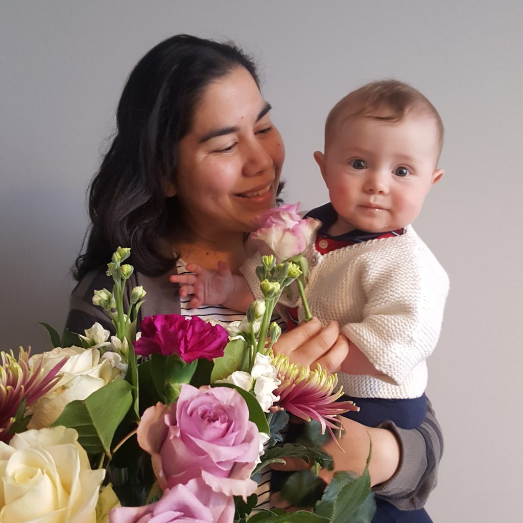 Beautiful roses for our Founder & Designer Janan from Elin for Mother's Day
