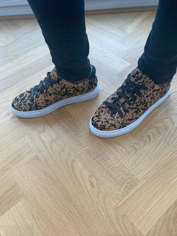 Rozalla loves her Cocorose Hoxton Leopard Print  Trainers