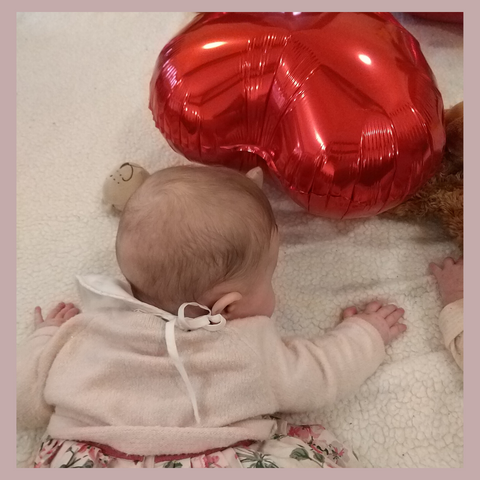 Elin at Valentine's Day Baby Sensory Group 2019