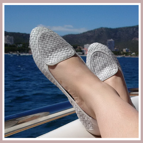 Clapham White. Our woven loafers are soft, comfortable and perfect for on deck.