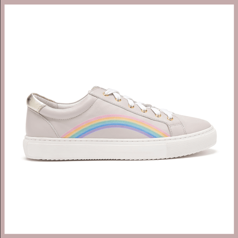 Hoxton Rainbow Trainers in Dove Grey, Cocorose London x The Honeypot Children's Charity