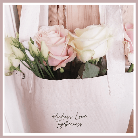 Kindness. Love. Togetherness. Canvas bags with meaning.