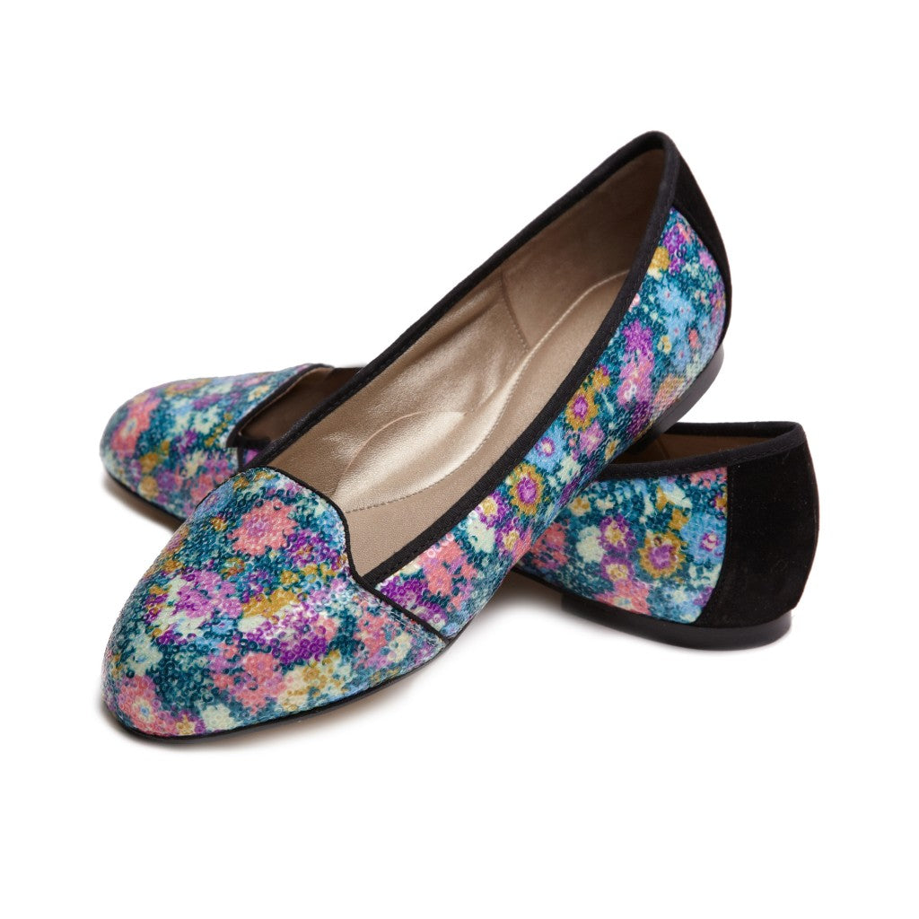 Liberty Bond Street CRLF009 Sequin Blue Pair