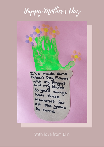 Elin's Mother's Day card to Janan | Cocorose London