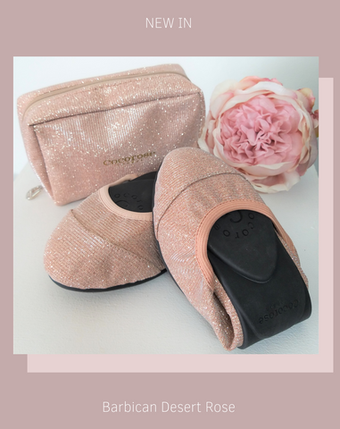 Barbican Desert Rose | Pretty in Pink | Pink Fold Up Ballet Flats