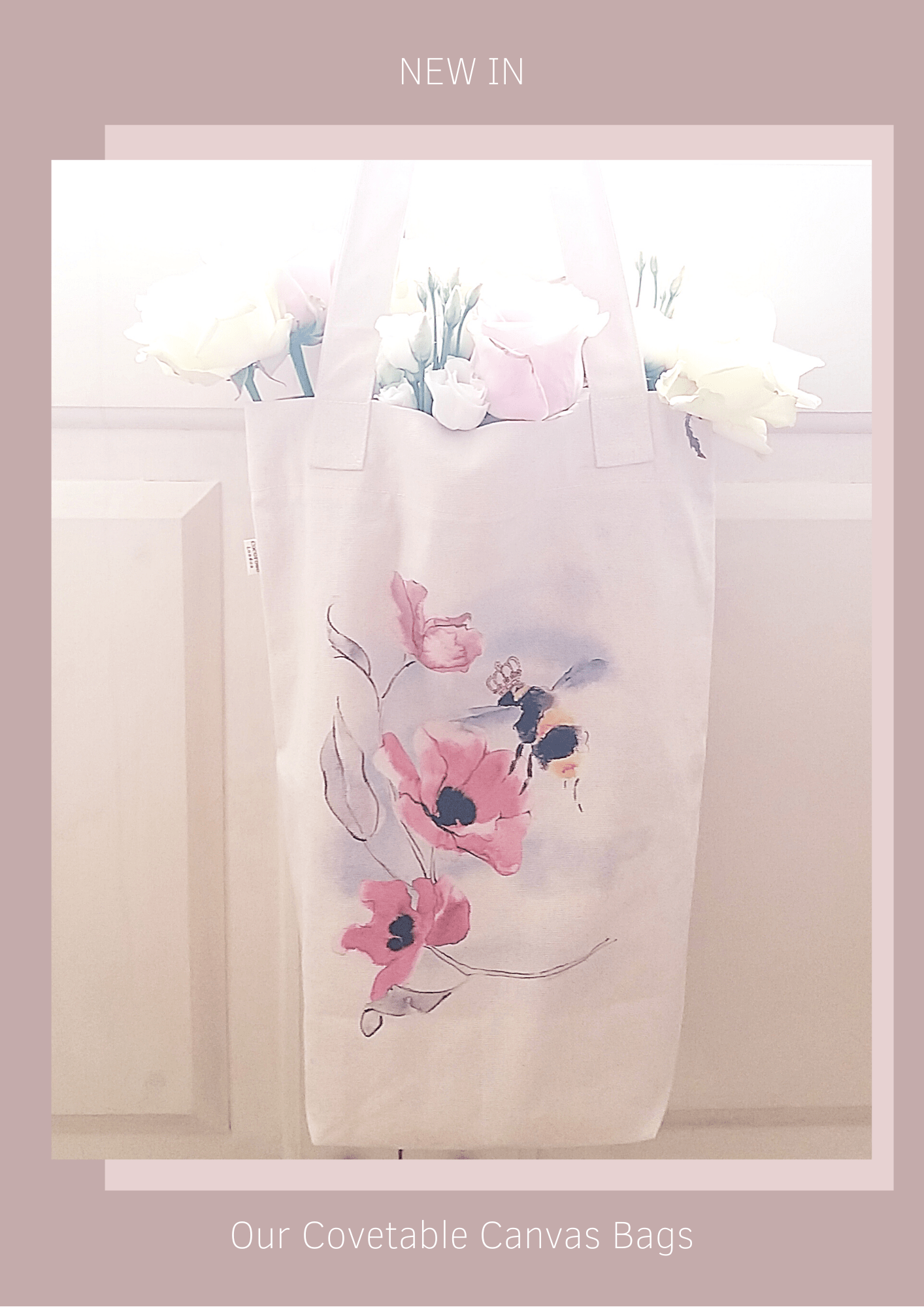 Cocorose London's covetable canvas bags - illustrated and printed canvas shopping bags