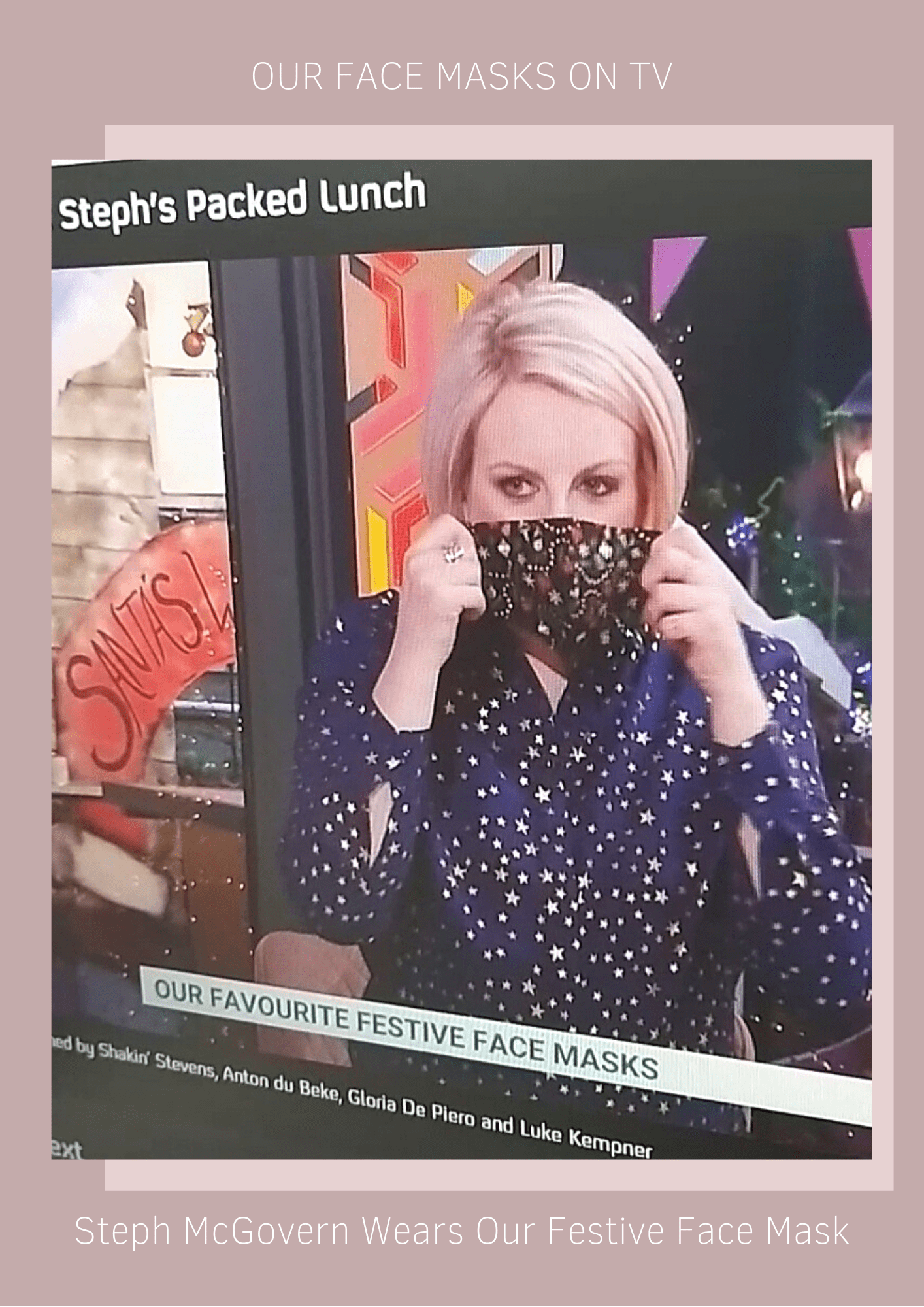 Cocorose face masks on TV | Channel 4 Steph's Packed Lunch