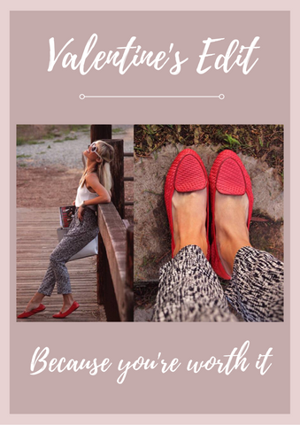 Cocorose London's Valentine's Day Edit | Because You're Worth It | Clapham Coral Red Shoes