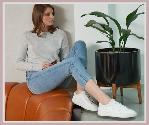 Cocorose White Trainers | White Star Sneakers