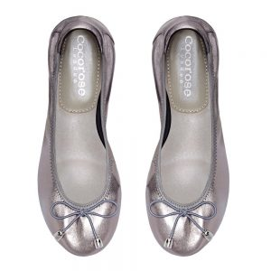Sandringham Silver Pewter leather ballet flats are ideal to wear to Wimbledon as they're chic and comfy