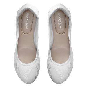 Cocorose's Sandringham Ivory White Lace ballet flats look effortlessly chic and are ideal to wear to Wimbledon