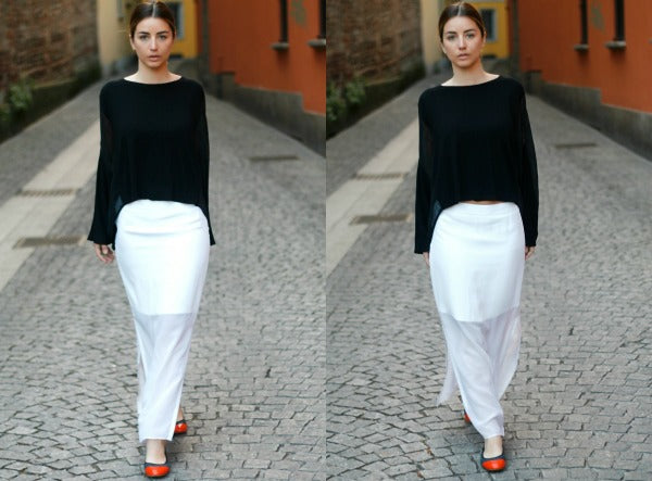 Sophia Salaroli #CocorosesIt in her Chelsea graphite and orange foldable shoes