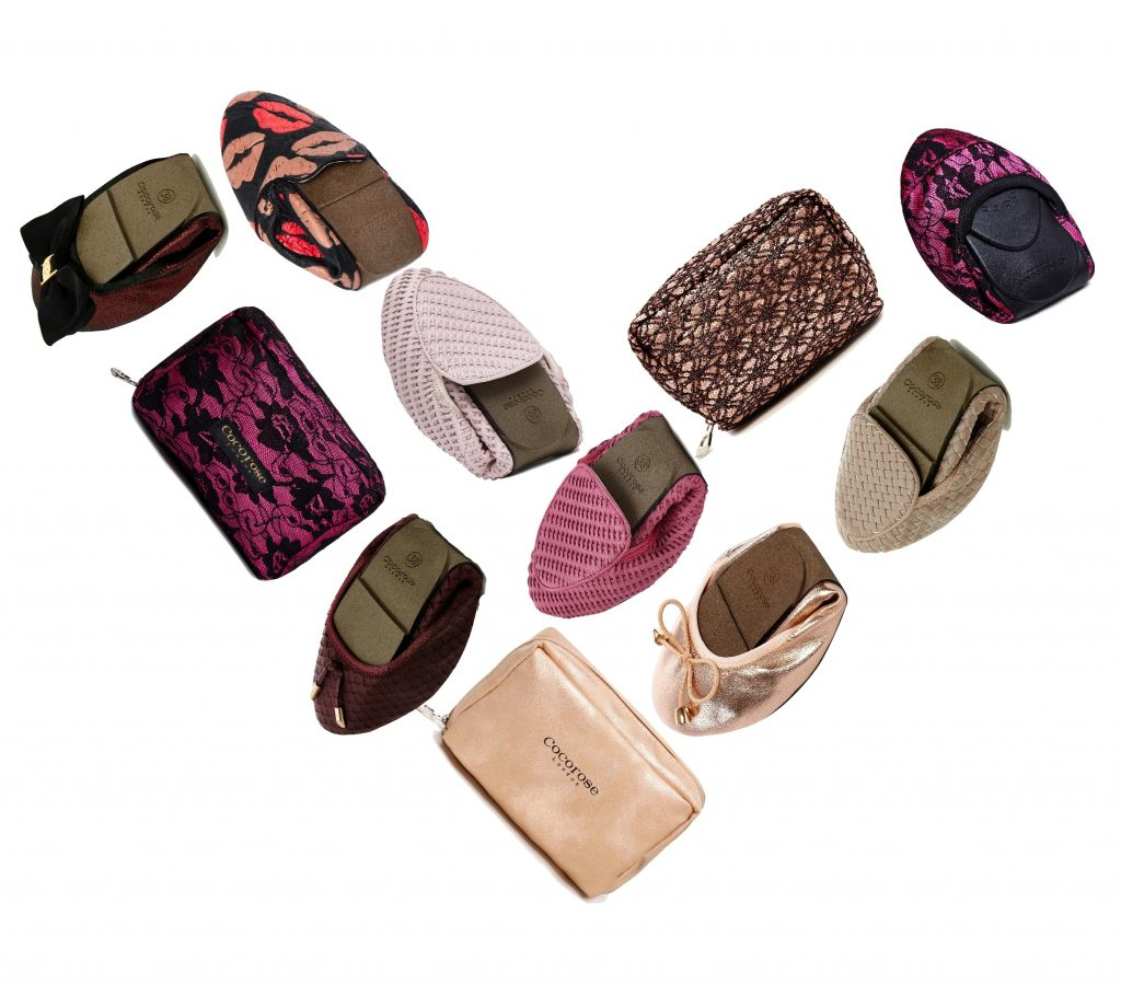 Cocorose London's collection of fun, fashionable and foldable shoes - lightweight, versatile, compact, portable and comfortable