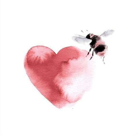 Valentine's Bee and Heart - sneak peek of our illustrations