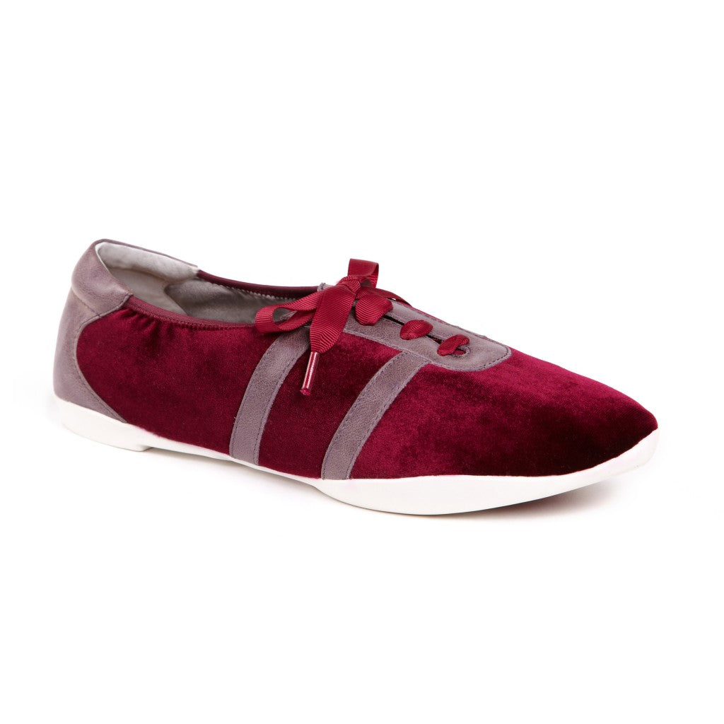 White City CR0573 Burgundy Velvet & Mauve Leather Straight